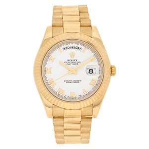 Rolex Day-Date II 218238 18k yellow gold 41mm auto watch