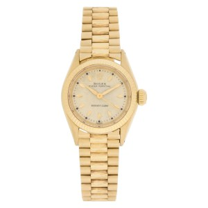 Rolex Oyster Perpetual 6619 18k 25mm auto watch