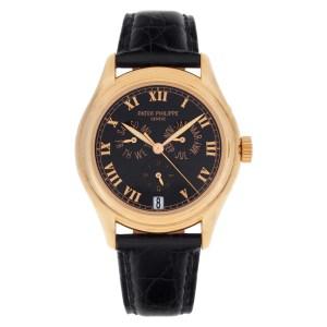 Patek Philippe Annual Calendar 5035R-011 18k rose gold 37mm auto watch