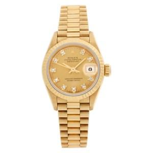 Rolex Datejust 69178 18k yellow gold 26mm auto watch