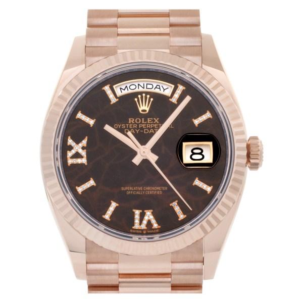 Rolex Day-Date 128235 18k rose gold 36mm auto watch