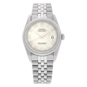 Rolex Datejust 16220 stainless steel 36mm auto watch