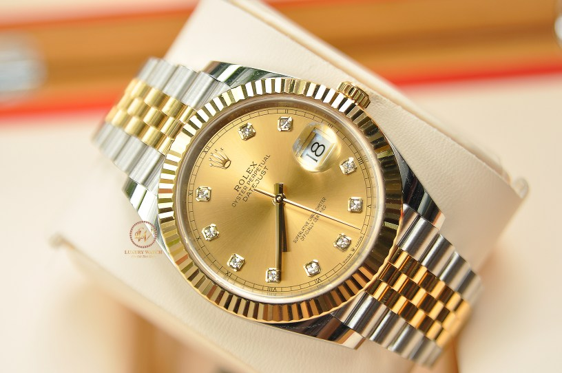 Đồng hồ Rolex Datejust II 126333 mặt Vàng Sâm panh Diamond Demi Gold 41mm New 99% – 2020