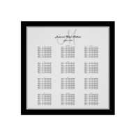 black_and_white_wedding_seating_chart_for_300_poster-228497679142357195