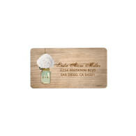 country_rustic_mason_jar_hydrangea_address_labels-106319999587837602