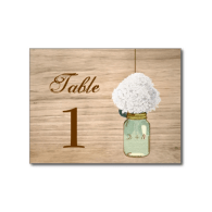 country_rustic_mason_jar_hydrangea_table_number_postcard-239527115514151622