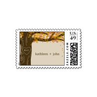 oak_tree_fall_wedding_custom_postage_stamp_stamps-172068501144186387