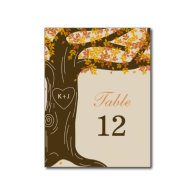 oak_tree_fall_wedding_table_number_card_post_cards-239797136865326125