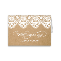 rustic_lace_maid_of_honor_cards-137882034768121226