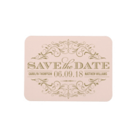 blush_and_gold_save_the_date_swirl_and_flourish_premium_magnet-160146575227849264