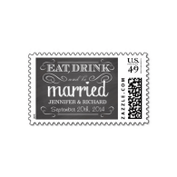 chalkboard_eat_drink_be_married_wedding_postage-172235679588413732