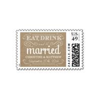 rustic_burlap_eat_drink_be_married_wedding_postage-172761001164022964