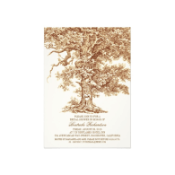 vintage_old_oak_tree_rustic_bridal_shower_invitation-161158396280457053