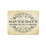 vintage_save_the_date_card_elegant_flourish_invitation-161375652979696129