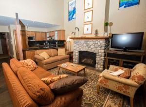 Luxury Whistler Rental Living Room