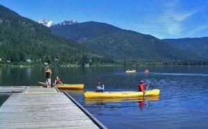 Paddling on Alta Lake Whistler BC
