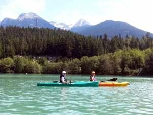 Whistler BC Kayaking in Green Lake