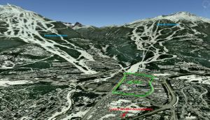 Whistler Montebello 3D Map Winter