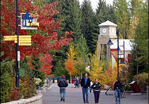 Whistler Town Plaza in the Fall