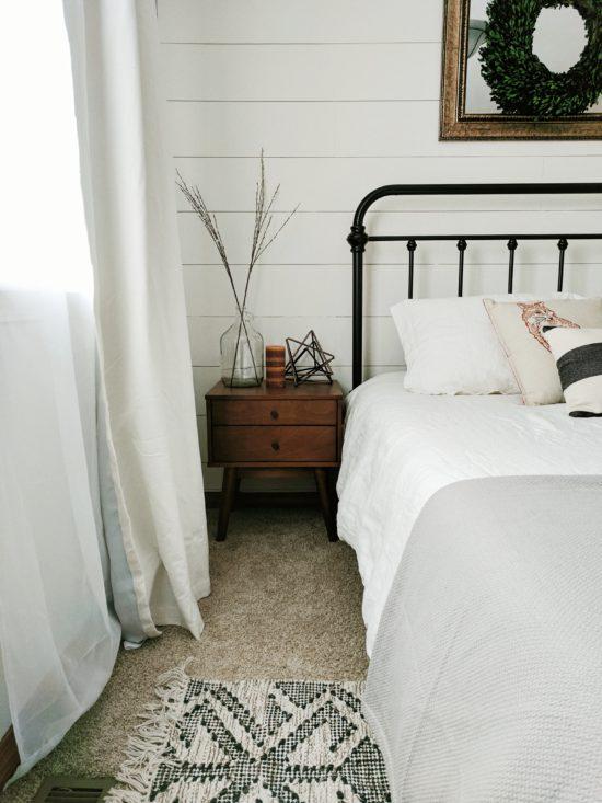 Crisp White Bedroom Decor