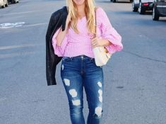 Pink Statement Sleeve Top