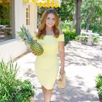 Yellow Bodycon Off The Shoulder Ladylike Dress