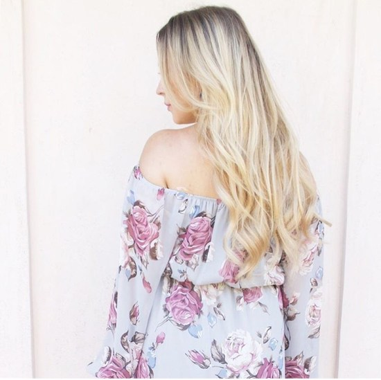 Floral Off The Shoulder Dress For New Moms