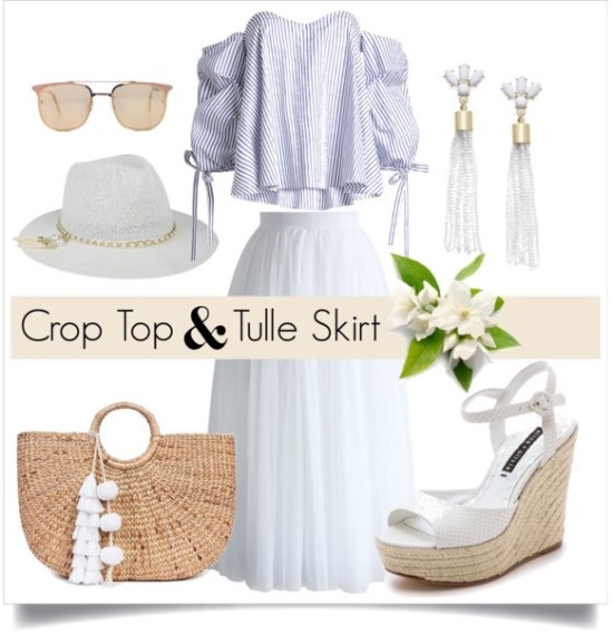 How to Wear a Crop Top and Tulle Skirt
