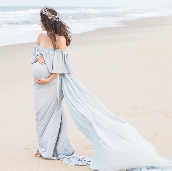 Ethereal Maternity Maxi Dress
