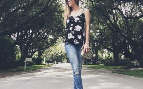 Floral Cami and Jeans Outfit