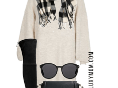 Sweater Dress Outfit With Black Accessories