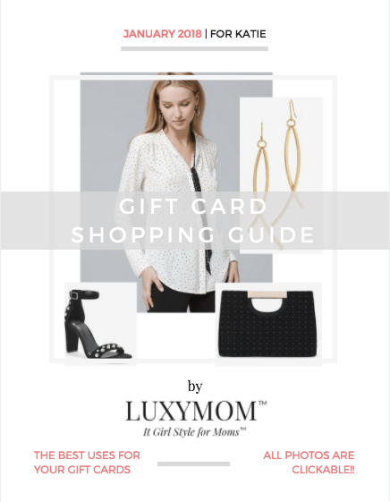 LUXYMOM Gift Card Styling Look Book Cover page