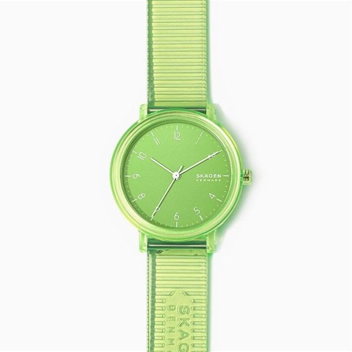 Aaren Transparent Green Skagen Watch