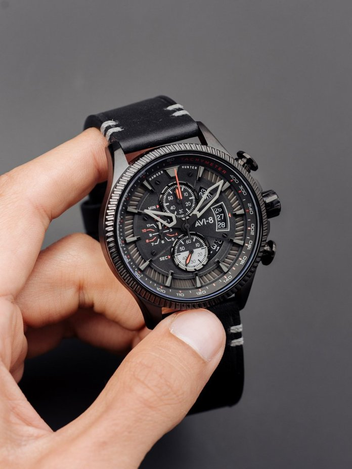 Avi-8 watch Avon Chronograph Stealth Black