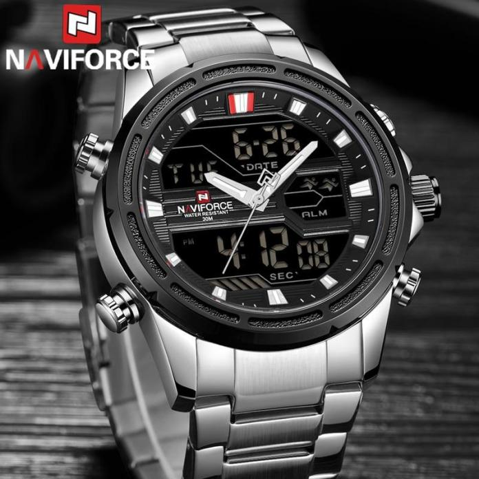 Best Naviforce Watch - 9138S Military Style