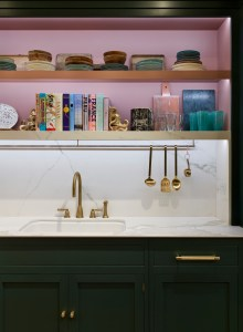 Hetherington Newman pink and green kitchen