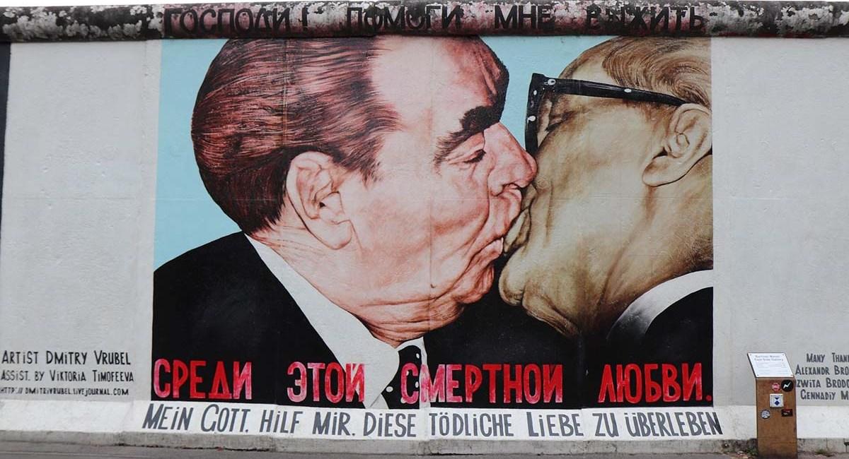 Beso Famoso Muro Berlin