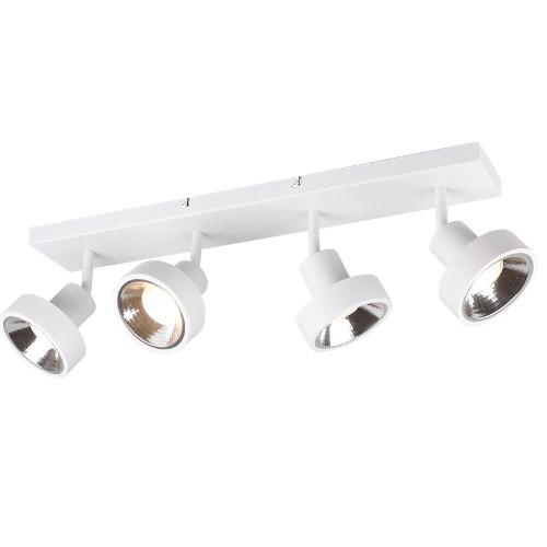Regleta de focos con 4 luces leon blanco