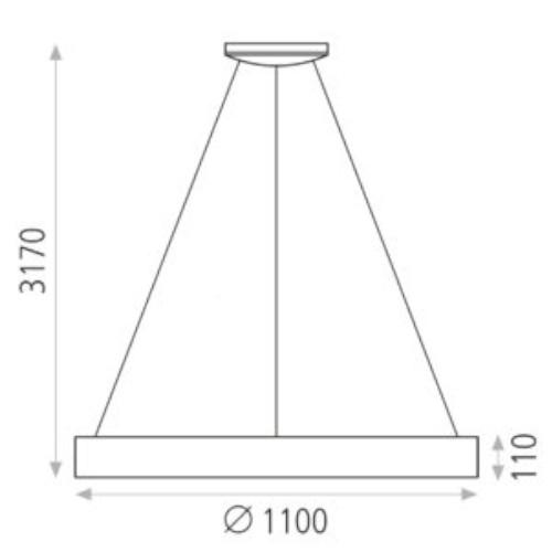 medidas Colgante Dilga 144w 110cm