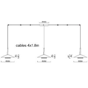 medidas Lámpara de techo Orion 4L