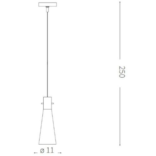 medidas Lámpara de techo Kuky