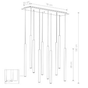 medidas Lámpara techo laser 10L