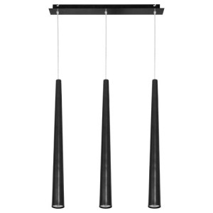 Lámpara techo Quebeck 3L negro