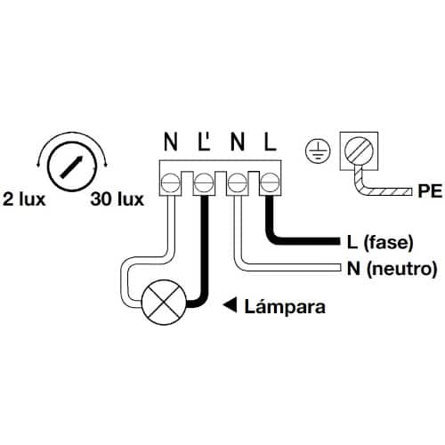 instalacion interruptor crepuscular