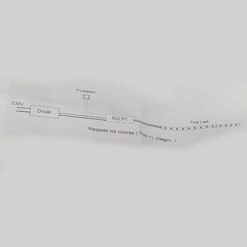 instrucciones regulador tira led pulsador