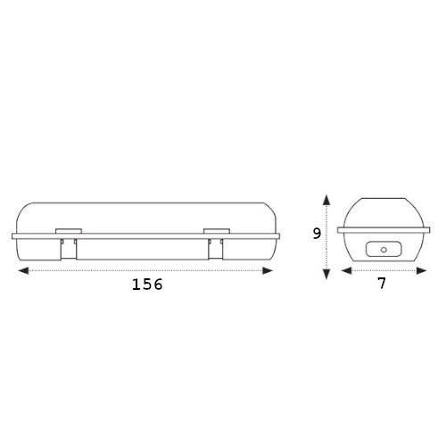 medidas pantalla estanca ip65 1x150cm