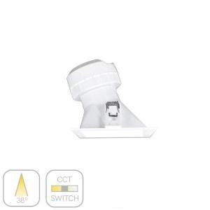 foco asimetrico cuadrado pulcom blanco