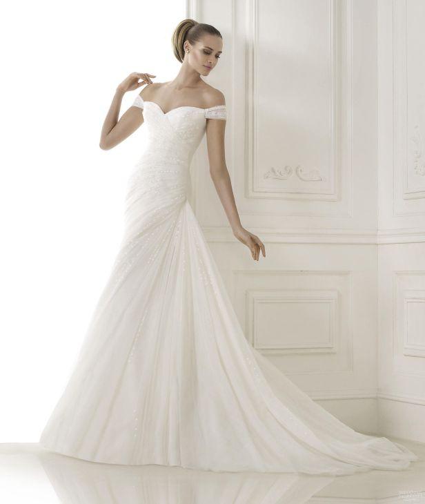 off-the-shoulder-sweetheart-draped-wedding-dresses