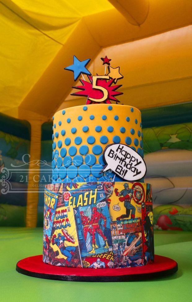 Mas De 80 Pasteles De Superheroes Luz Angela