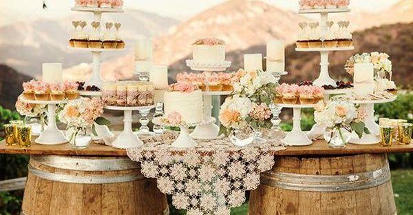 Matrimonio Rustico Shabby Chic : Una mesa de dulces estilo rustico shabby chic luz angela